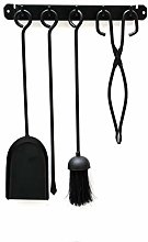 Black 4 Piece Wall Mounted Companion Set Includes