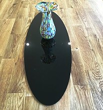 Black Acrylic Oval Table Runner - Large - 60 x 22