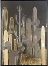 Black and Gold Cactus Print Artwork 105x145