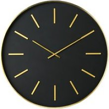 Black and Golden Metal Clock D86