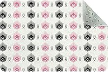 Black And Pink Peacock Non Slip Play Mat Area Rug