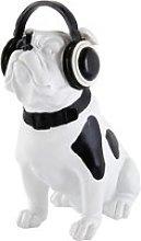 Black and White Dog Statuette H33