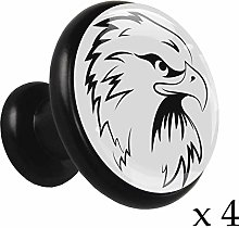 Black and White Eagle Alloy Cabinet Knobs Round4