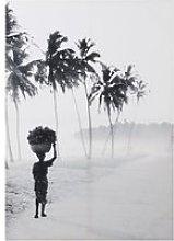 Black and White Landscape Canvas Print 92x130