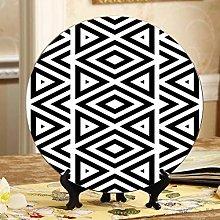 Black and White Lattices Decorative Display Plates