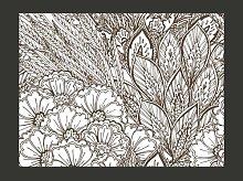 Black and White Meadow 154cm x 200cm Wallpaper