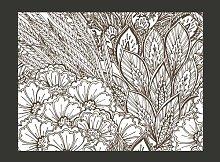 Black and White Meadow 193cm x 250cm Wallpaper
