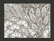 Black and White Meadow 231cm x 300cm Wallpaper
