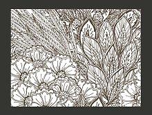 Black and White Meadow 309cm x 400cm Wallpaper