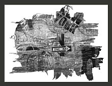 Black and White New York Collage 1.54m x 200cm