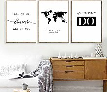 Black and White Nordic Poster Quotes Canvas