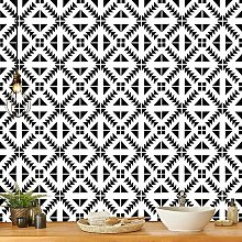 Black and White Peel and Stick Wallpaper Kitchen