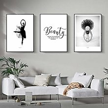 Black and White Pictures Wall Art Print Canvas Art