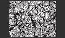 Black and White Retro 270cm x 350cm Wallpaper East