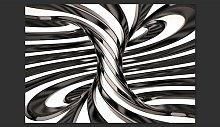 Black and White Swirl 2.80m x 400cm Wallpaper East