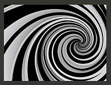 Black and White Swirl 309cm x 400cm Wallpaper East