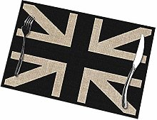 Black And White Union Jack Print Placemats -