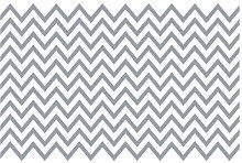 Black and White Zigzag Semi-Gloss Wallpaper Roll