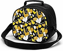 Black and Yellow Colors Letter and Hearts