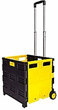 Black and Yellow folding shopping car