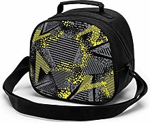 Black and Yellow Geometric Shape Dots Insulated