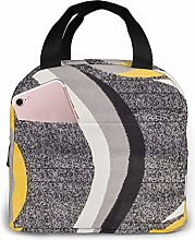 Black and Yellow Lunch Bag Tote Bag Lunch Box