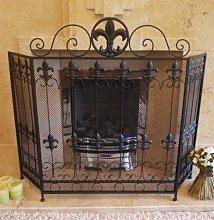 Black Antique Vintage Fireplace Fire Guard