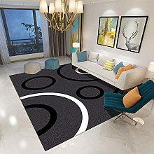 Black arc Modern abstract border pattern bedroom