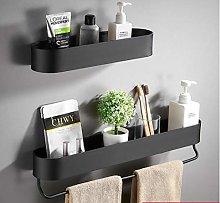 Black Bathroom Shelf 30/40/50 cm Kitchen Wall