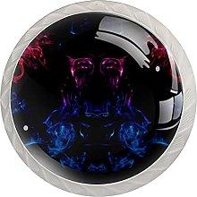 Black Blue Purple, Modern Minimalist Printing