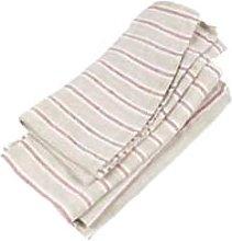 Black Bough - Oatmeal Multi Stripe Linen Napkins