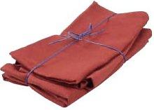 Black Bough - Set of 4 Dull Red Linen Napkins