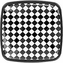 Black Cabinet Knobs Square Cabinet Knobs 4 Pack -