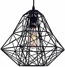 Black Cage Pendant Light E27 Base Edison Ceiling