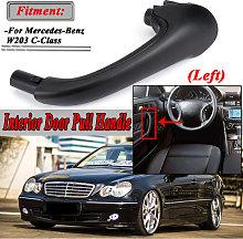 Black Car Front Left Interior Inner Door Pull