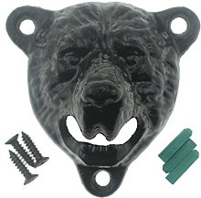 Black Cast Iron Bear Teeth Wall Mounted Bottle