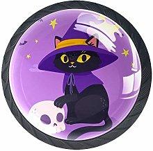 Black cat Skull Knob Handles Door Knobs Cabinet