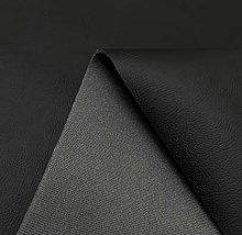 Black Catalan 3mm Scrim Foam Backed Faux Leather