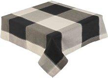 Black Check Tablecloth 52 x 52 Inch Square (132 x