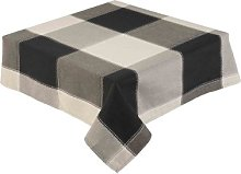 Black Check Tablecloth 52 x 70 Inch Rectangle (127