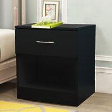 Black Chest of Drawer Storage Drawers Bedside