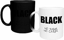 Black Coffee No Sugar Magic Mug, Funny Novelty