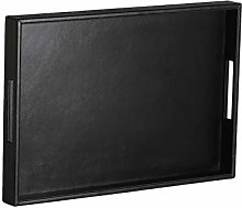 Black Coffee Tray,Decorative Leather Large Serving