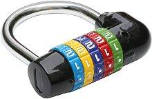 Black Combination Padlock 5 Numbers - Bike Lock -