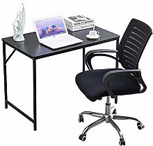 Black Computer Desk Home Office Laptop PC Table