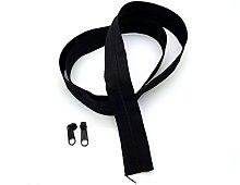 Black Continuous Zip & Sliders No. 3 Zippers