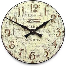 Black Country Metal Works Large Wooden Wall Clock