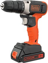 Black + Decker 18V Lithium-ion Drill Driver with