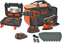 Black + Decker Cordless Hammer Drill & Mouse with