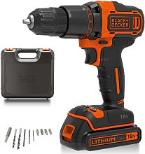Black + Decker Cordless Hammer Drill with Battery
